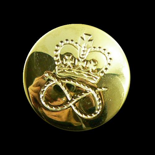 Goldfarbene Knöpfe mit Krone