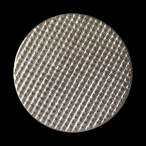 www.Knopfparadies.de - 3013si - Silberne Metallknöpfe mit filigraner Waffel Struktur