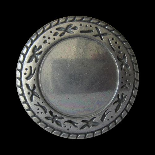www.Knopfparadies.de - 3553ei - Hübsche Metallknöpfe mit Ethno Muster