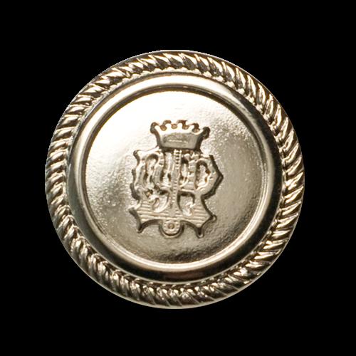 Metallknöpfe mit Wappen und Krone