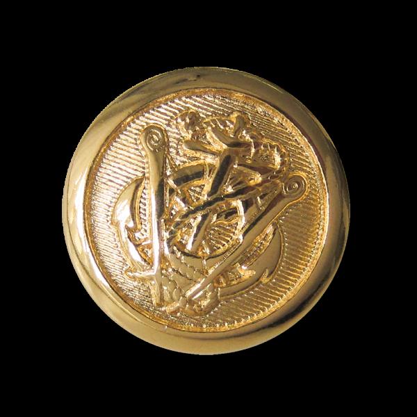 Anker Metall Ösen Knopf in Goldfarben