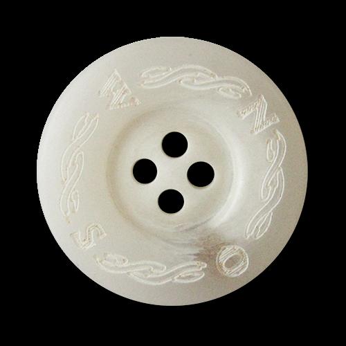 www.knopfparadies.de - 2053gw - Hübsche Kunststoffknöpfe in grau bis weiß mit Seemann Motiv Kompass
