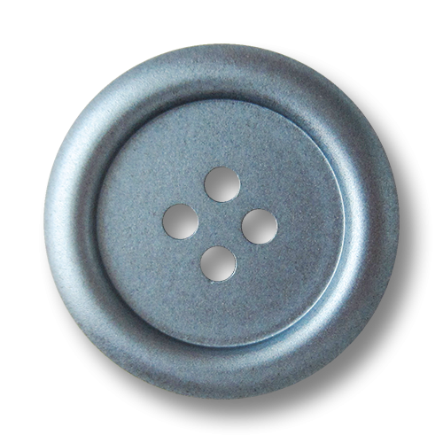 www.knopfparadies.de - 5811mb - Matt blau glänzende Knöpfe aus Kunststoff