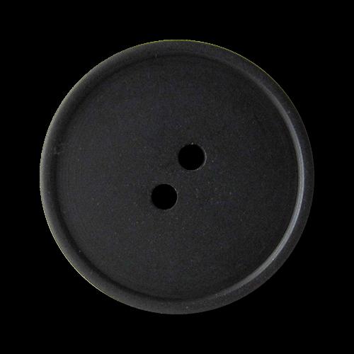 5 zeitlose Lederknöpfe in schwarz mit vier Löchern 2513gs