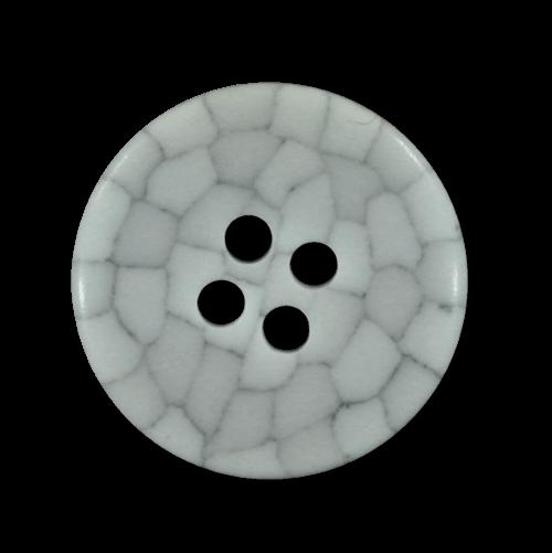 Weiß grauer Knopf mit wabenartigem Mosaik Muster