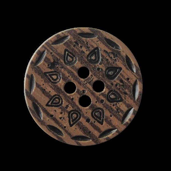 Hübscher Landhausknopf in dunkler Holzoptik