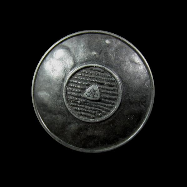 Eisenfb. Metall Knopf wie aus Mittelalter o. Antike