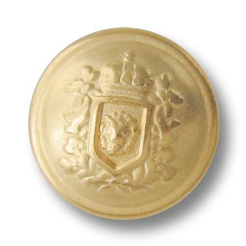 www.knopfparadies.de - 0575go - Goldfarbene Metallknöpfe mit edlem Wappen Motiv