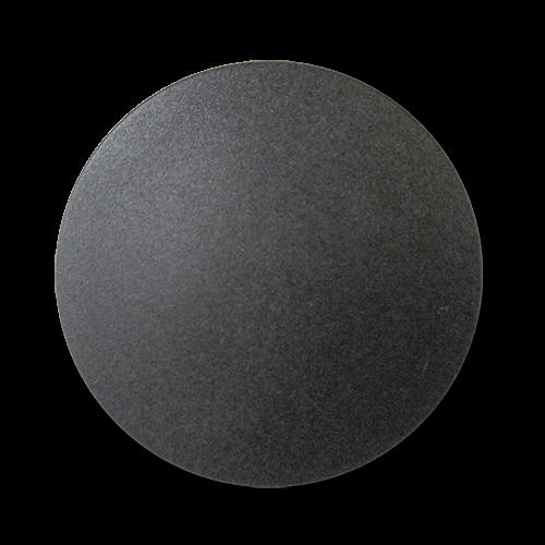 www.Knopfparadies.de - 2714sc - Große günstige Mantelknöpfe aus Kunststoff in Schwarz