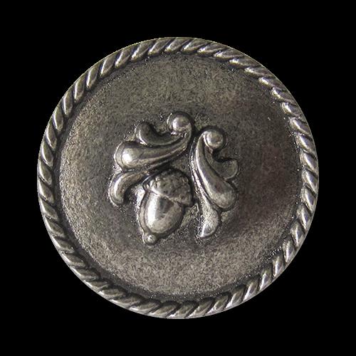 Reizvoller Trachtenknopf aus Metall mit Eichel Motiv
