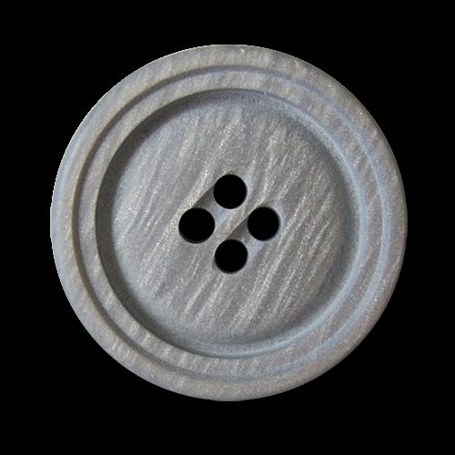 Hübsch schimmernde Kunststoffknöpfe in dezentem Grau
