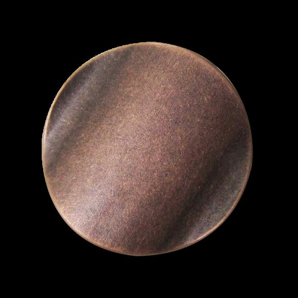 Metall Ösen Knopf in Kupferfarben mit gewellter Oberfläche