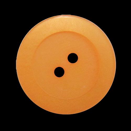 www.knopfparadies.de - 2912ap - Aprikosenfarbene Kunststoffknöpfe mit zwei Löchern