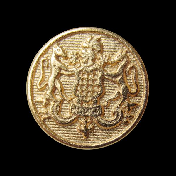 Eleganter goldfb. Metall Knopf mit Wappen / B-WARE