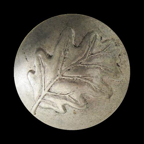 www.Knopfparadies.de - j080si - Edle Trachtenknöpfe in Silber mit Eichenblatt