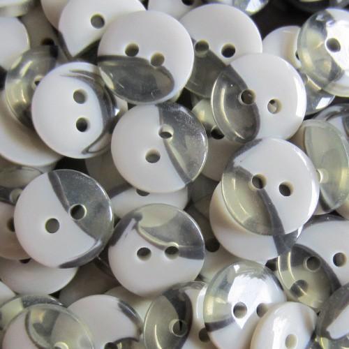 Moderner zweigeteilter Zweiloch Blusen / Hemden Knopf