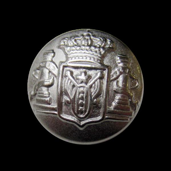 Majestätischer Wappen Metall Knopf mit großer Krone