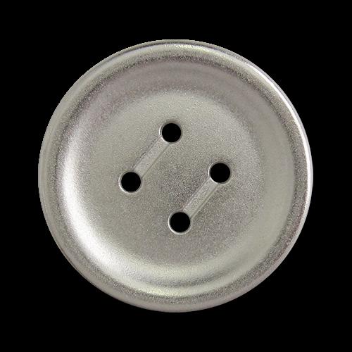 www.knopfparadies.de - 5757si - Günstige Metallknöpfe mit vier Löchern - B-WARE