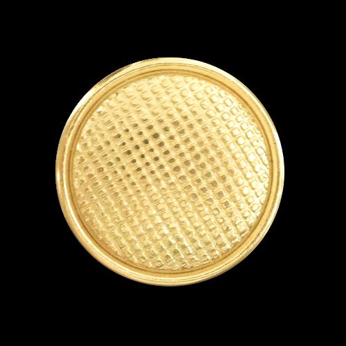 Interessante goldfarbene Metallknöpfe mit Gittermuster