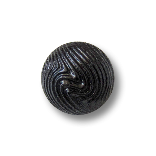 www.Knopfparadies.de - 1672sc - Kleine edle schwarz glänzende Kugelknöpfe aus Kunststoff