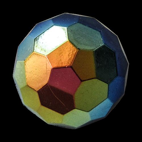 www.knopfparadies.de - 5305bu - Toll funkelnde Kunststoffknöpfe, wie kleine Discokugeln