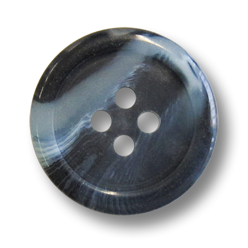 www.knopfparadies.de - 5102bl - Kunststoffknöpfe in dunkel- und hellblau marmoriertz