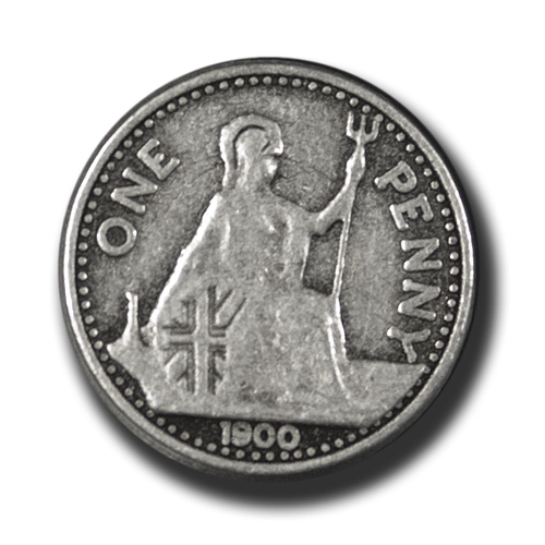 Altsilberfarbene One-Penny-Knöpfe