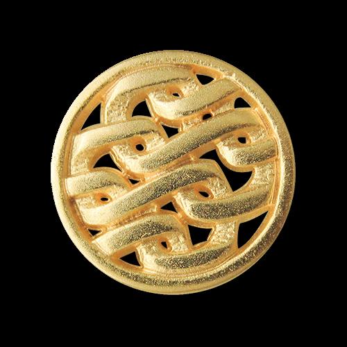 Goldfarbener Metallknopf m. Durchbruchmuster