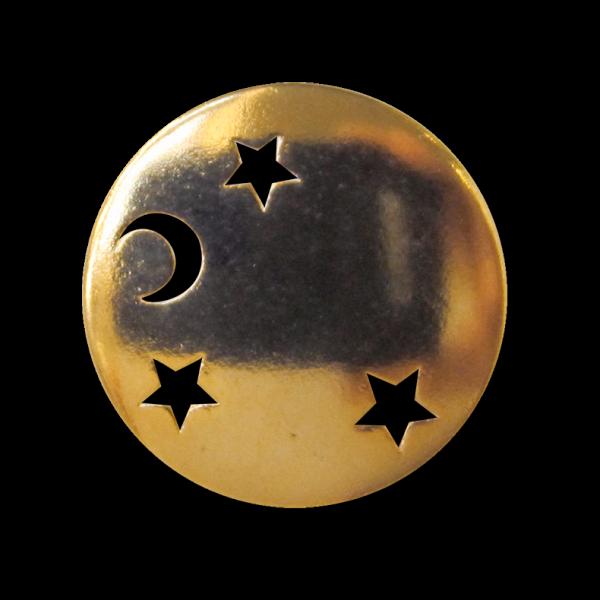 Schöne goldglänzende Metallknöpfe mit Sternenmotiv