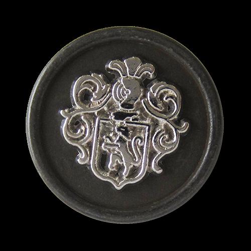 www.Knopfparadies.de - 1523es - Prächtige Wappenknöpfe aus Metall in Silber & Eisen
