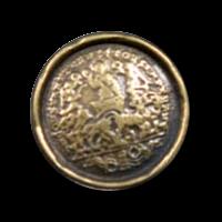 Sehr alt wirkender Metall Münzknopf