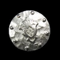 Silberfarbener Wappenknopf