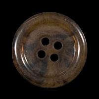 Halbtransparent braunmarmorierter Knopf