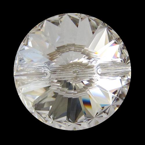 www.Knopfparadies.de - 5834sw - Große facettierte Swarovski Glasknöpfe wie Diamanten
