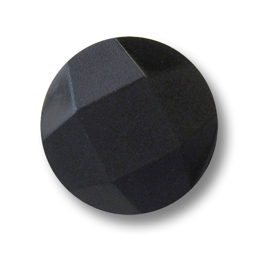 www.knopfparadies.de - 3434sc - Kunststoffknöpfe in schwarz, modernes Design