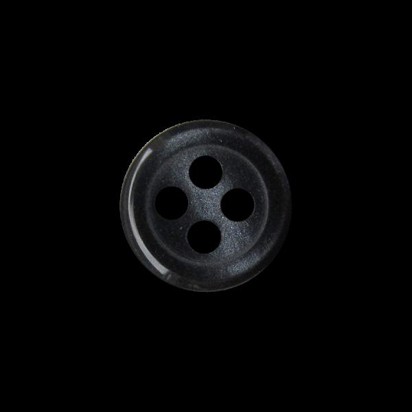 Kleine günstige dunkelgraue Vierloch Kunststoff Knöpfe