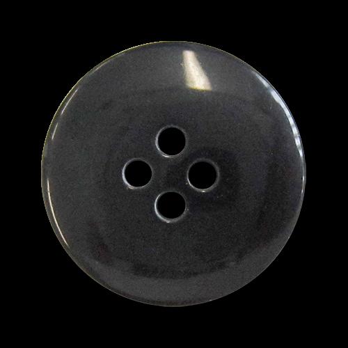 www.knopfparadies.de - 0515sc - Schwarz glänzende Vierlochknöpfe aus Kunststoff