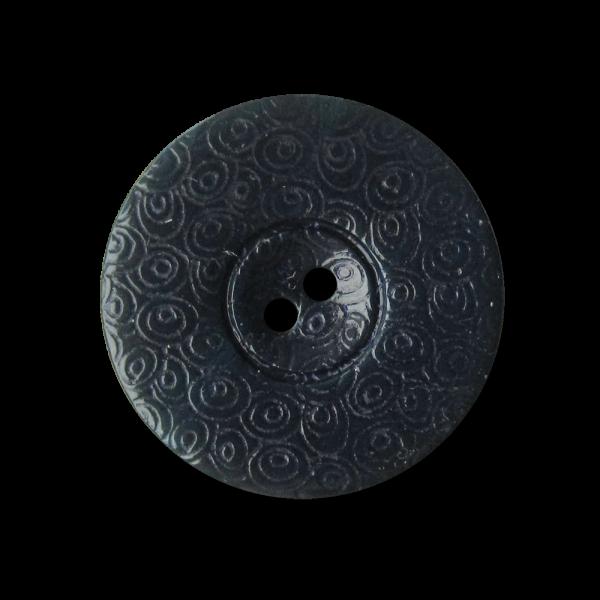 Bildschöne blaue Perlmutt Knöpfe mit Ornament Muster