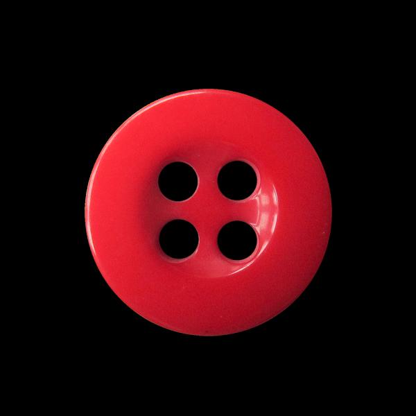 Kleiner roter Vierloch Blusen / Puppen Kunststoffknopf