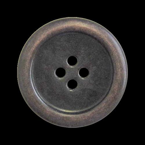 www.Knopfparadies.de - 5300ek - Einfache Vierlochknöpfe aus Metall in Eisen & Kupfer
