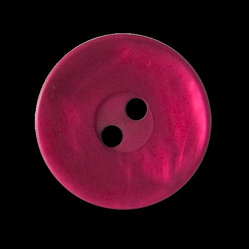 www.knopfparadies.de - 3564wr - Dunkel pink schillernde Kunststoffknöpfe