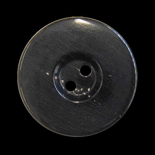 www.knopfparadies.de - 5978ee - Echte Büffelhornknöpfe in dunkelbraun, fast schwarz
