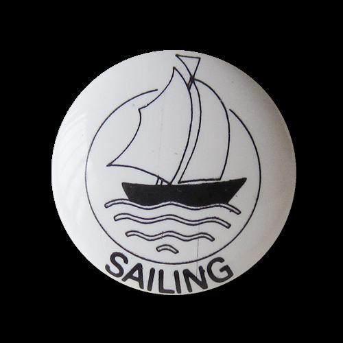 www.Knopfparadies.de - 5309sw - Hübsche Motivknöpfe mit Segelschiff
