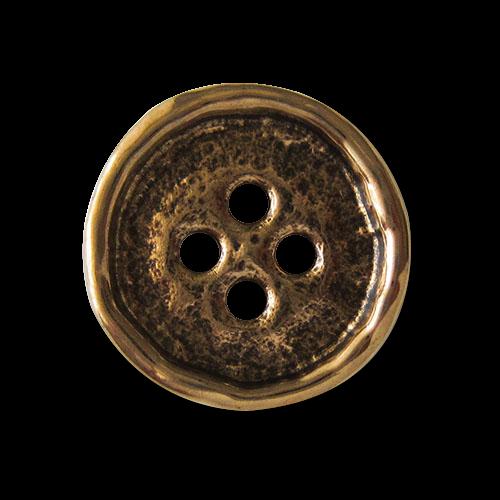 www.Knopfparadies.de - 2676ag - Leichte goldene Knöpfe in Antik Optik