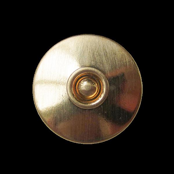 Glänzend goldfarbener Metallknopf mit Kugel / B-WARE