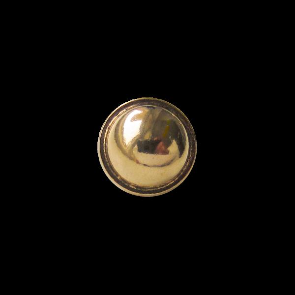 Kleiner Halbkugelknopf aus Metall mit Öse in glänzend Goldfarben