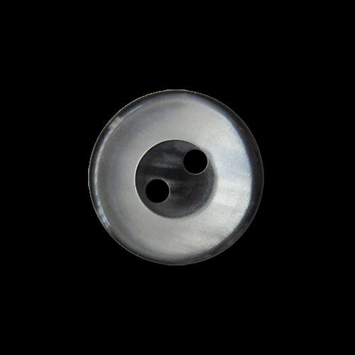 www.knopfparadies.de - 3564sg -  Günstige, grau schimmernde Blusenknöpfe