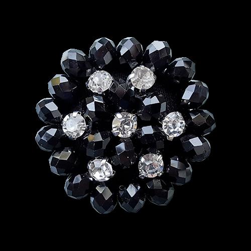 www.knopfparadies.de - 1274sc -Wundervolle Zierknöpfe mit Strass und Perlen