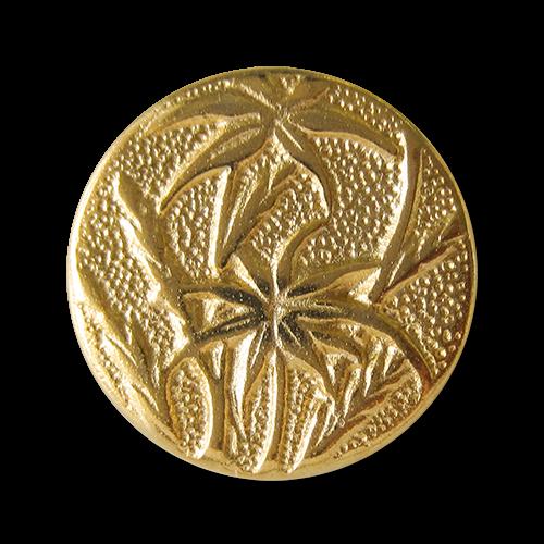 Goldfb. Metallknopf mit Papyrus