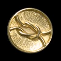 Goldfarbene Designerknöpfe aus Metall